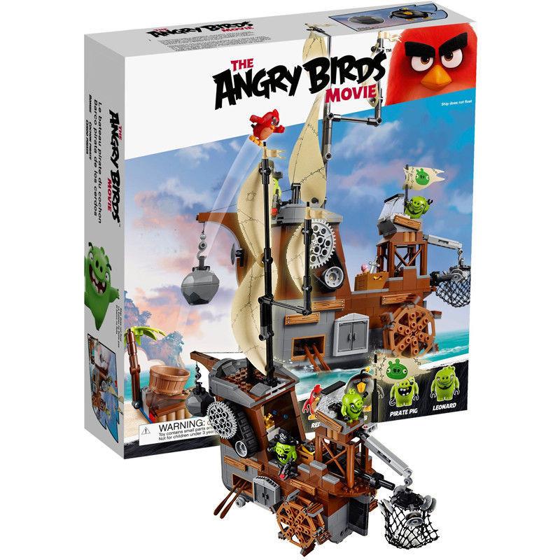 """Конструктор Angry Birds Lepin 19005  """"Пиратский корабль свинок"""", 650 дет."""