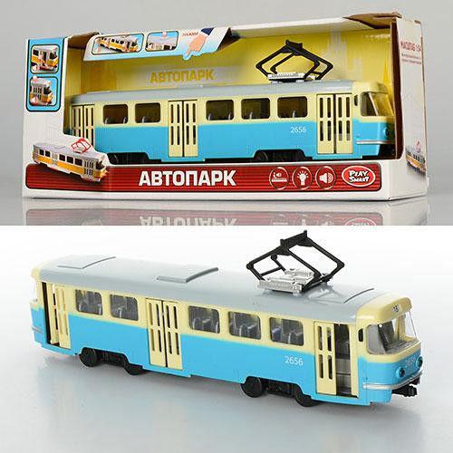 Трамвай инерционный Автопром батар.,свет,звук, в кор. 31-8-11,4 см