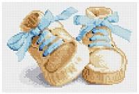 Рисование камнями на холсте Lasko Первые шаги (голубые) (TD002) 28 х 19 см