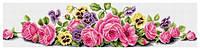 Рисование камнями на холсте Lasko Розовые розы (TK010) 84,5 х 21,5 см