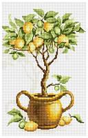 Рисование камнями на холсте Lasko Лимонное дерево (TK025) 26 х 41 см