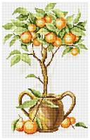 Рисование камнями на холсте Lasko Апельсиновое дерево (TK026) 26 х 41 см