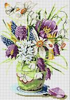 Рисование камнями на холсте Lasko Весенние цветы (TK032) 33 х 47 см