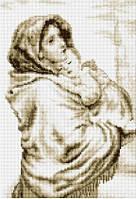 Рисование камнями на холсте Lasko Мадонна с младенцем (TL010) 28 х 40 см