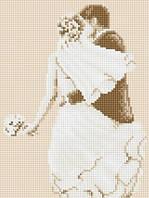 Рисование камнями на холсте Lasko Свадьба (TL012) 21 х 27,5 см