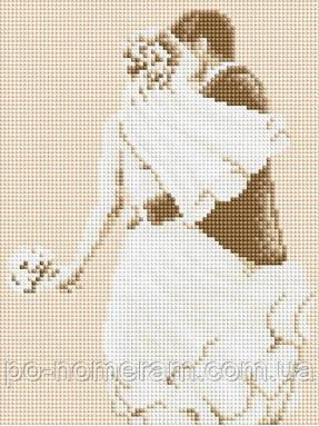 Рисование камнями на холсте Lasko Свадьба (TL012) 21 х 27,5 см - Картины по номерам, раскраски по цифрам в Киеве