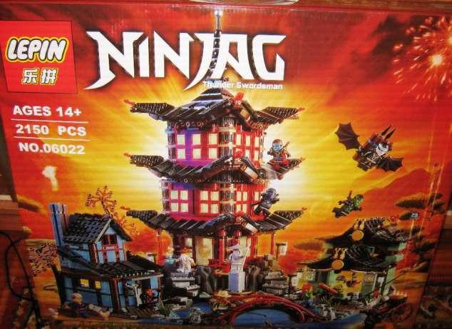 "Конструктор Lepin 06022 Ninja (аналог Lego Ninjago) ""Храм Аэроджитсу"", 2150 дет."