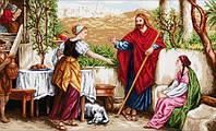 Рисование камнями на холсте Lasko Иисус, Марфа и Мария (TL024) 100 х 60 см