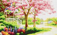 Рисование камнями на холсте Lasko Весенний сад (TP010) 54 х 33,5 см