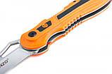 Нож Ganzo G621 оранжевый  серый, фото 2