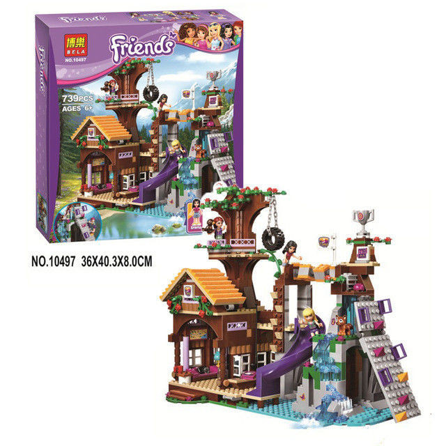 "Конструктор Bela Friends 10497 ""Спортивный лагерь: дом на дереве"" (аналог LEGO Friends 41122), 739 дет"