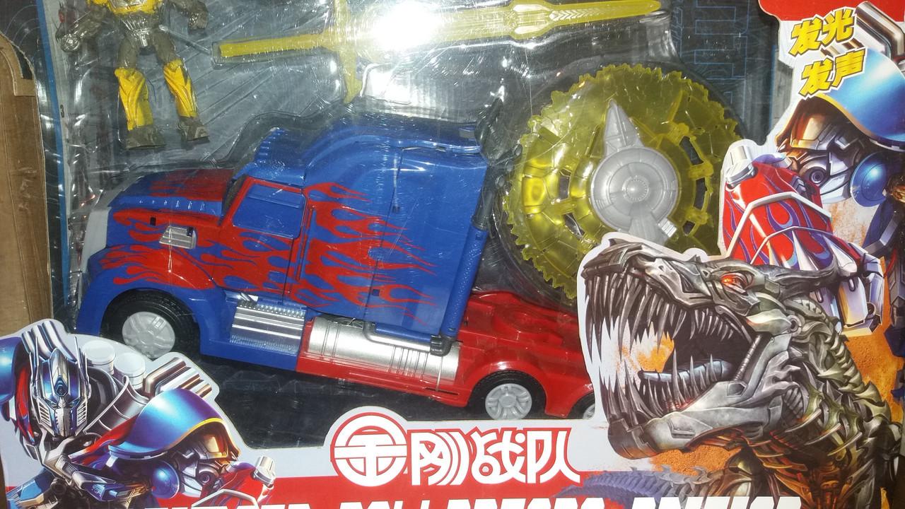 Авторобот, игрушка трансформер Оптимус Прайм А108-3 в синем цвете., в коробке