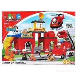 """Конструктор JDLT 5156 """"Пожарная станция"""" 85дет."""