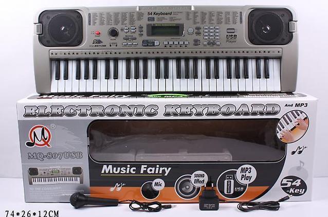 Детский обучающий синтезатор MQ-807 USB, 54 клавиши