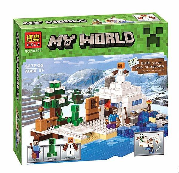 Конструктор Bela 10391 Снежное укрытие (аналог Lego Майнкрафт, Minecraft 21120), 327дет.