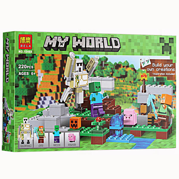 Конструктор Bela 10468 Железный голем Майнкрафт, Minecraft, 220 дет