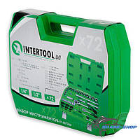 "Intertool набор инструмента 72ед., 1/2"" и 1/4"", Cr-V et-6072sp"