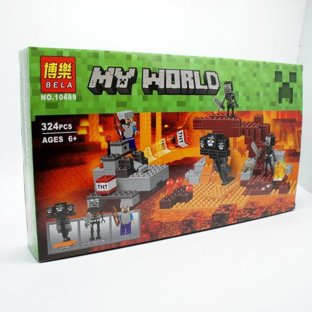 Конструктор Bela 10469 Иссушитель (аналог Lego Майнкрафт, Minecraft ), 324 дет