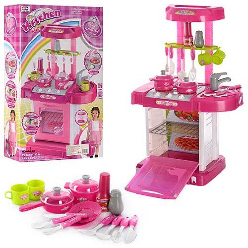 Игровой набор Кухня с посудой 008-58 розовая
