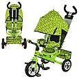 🔥✅ Велосипед колясочный трехколесный M 5361-2 Profi с родительской ручкой, фото 2