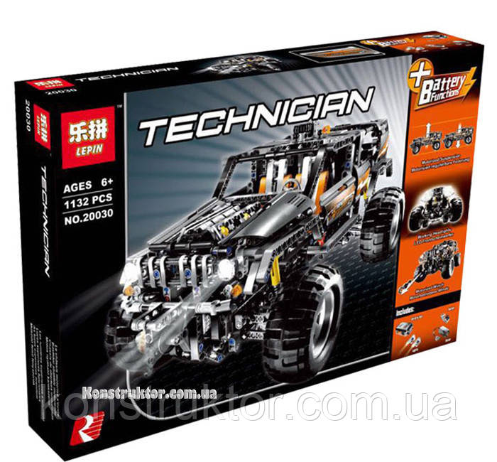 """Конструктор Lepin 20030 """"Внедорожник"""" 1132 деталей. Аналог Lego Technic 8297"""