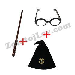 Набор Гарри Поттера очки, палочка, шапка