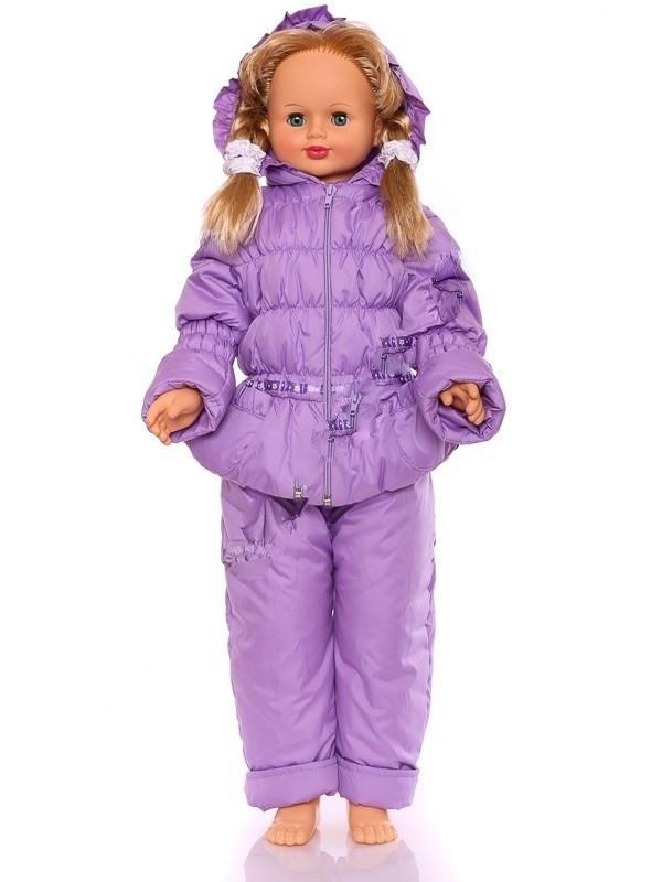 """Детский демисезонный костюм куртка и полукомбинезон """"Ноль-резинка"""" для девочки (фиолетовый) до 86см"""