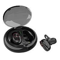 Бездротові навушники SUNROZ V5 TWS Bluetooth навушники вкладиші Чорний (SUN3194)