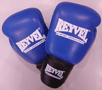 REYVEL  Перчатки боксёрские  кожа 6 унций СИНИЕ