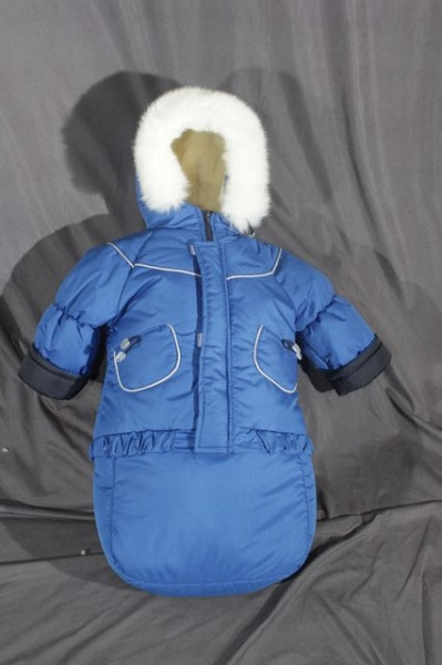 Детский зимний костюм-тройка (конверт-костюм) для мальчика синий