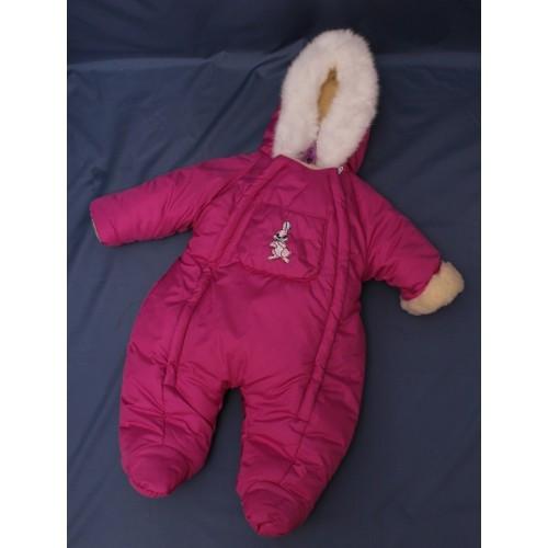 Зимний комбинезон для новорожденных (0-6 месяцев) сливовый