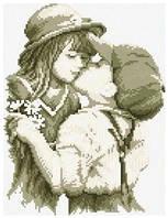 Картина своими руками - рисование камнями LASKO Первый поцелуй  (SL002), фото 1