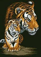 Набор для рисование камнями LASKO Тигрица и тигренок  (ST001), фото 1