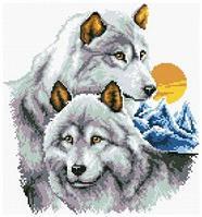 Картина своими руками - рисование камнями LASKO Волки  (ST003), фото 1