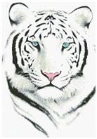 Картина своими руками - рисование камнями LASKO Белый тигр  (ST004), фото 1