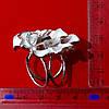 Зажим для платка цветок серебро, фото 5