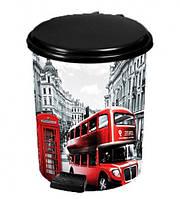 Ведро с педалью 6л Лондон Автобус Elif