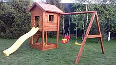 Дитячий майданчик Spielplatz Отто з подвійною гойдалкою і пісочницею
