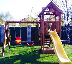 Дитячий майданчик Spielplatz Томас з подвійною гойдалкою та пісочницею-трансформер
