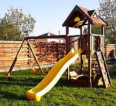 Дитячий майданчик Spielplatz Томас з подвійною гойдалкою, лазом та пісочницею-трансформер