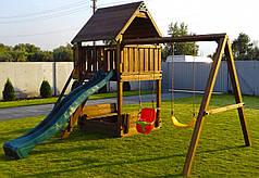 Дитячий майданчик Spielplatz Бруно з подвійною гойдалкою та пісочницею-трансформер