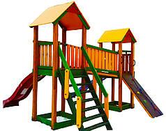Дитячий майданчик Spielplatz на дві гірки