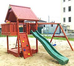 Дитячий майданчик Spielplatz Бруно з подвійною гойдалкою, лазом та пісочницею-трансформер