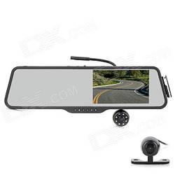 """Зеркало с видео регистратором DVR LS516 Full HD 5"""" экран  с камерой заднего вида. Bluetooth гарнитура+ПОДАРОК!"""