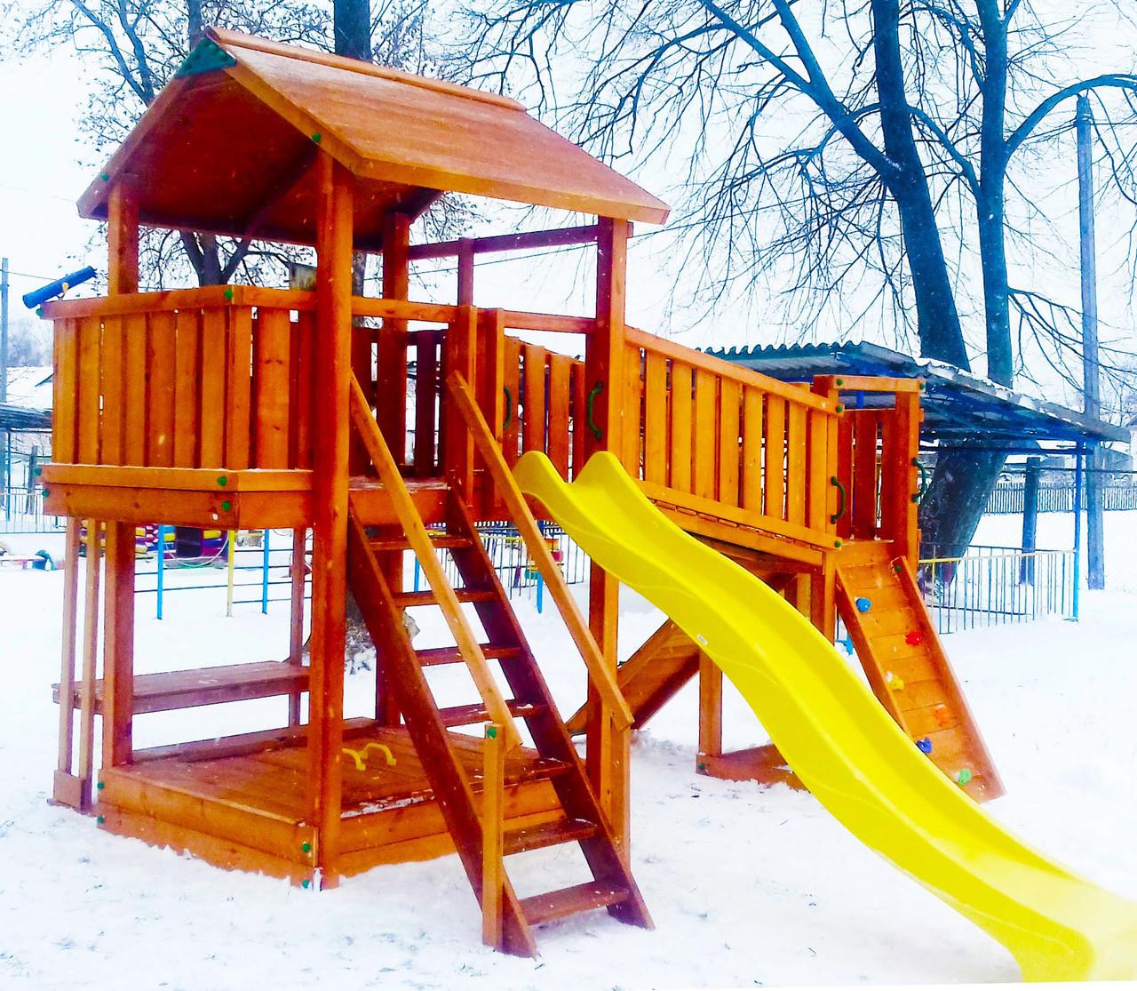 Дитячий майданчик Spielplatz Бруно Бруклини з містком, столиком і пісочницею-трансформер