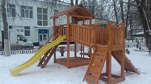 Дитячий майданчик Spielplatz Бруно Бруклини з містком, столиком і пісочницею-трансформер, фото 2