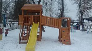 Дитячий майданчик Spielplatz Бруно Бруклини з містком, столиком і пісочницею-трансформер, фото 3