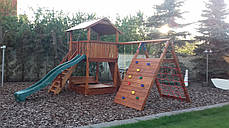 Дитячий майданчик Spielplatz Бруно з лазом, гойдалкою, лазом Есто та пісочницею-трансформер, фото 2
