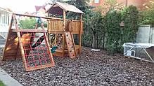 Дитячий майданчик Spielplatz Бруно з лазом, гойдалкою, лазом Есто та пісочницею-трансформер, фото 3