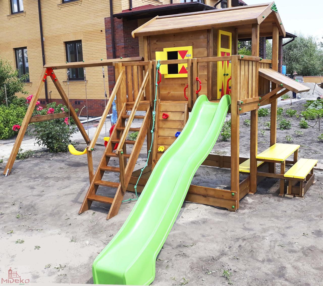 Детская площадка Spielplatz Витольд с двойной качелью, лазом и столиком